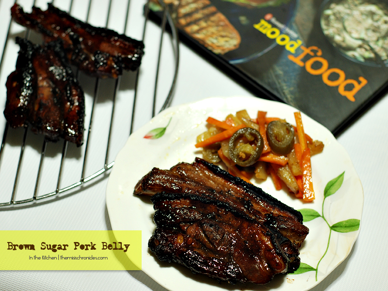 In the Kitchen: Brown Sugar Pork Belly (Inspired by Mood Food cookbook)