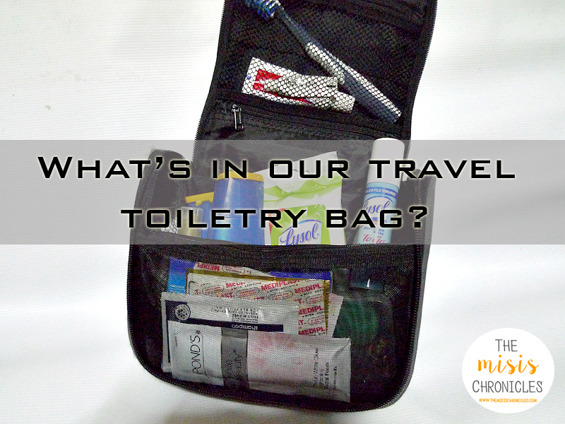What's in our travel toiletry bag?