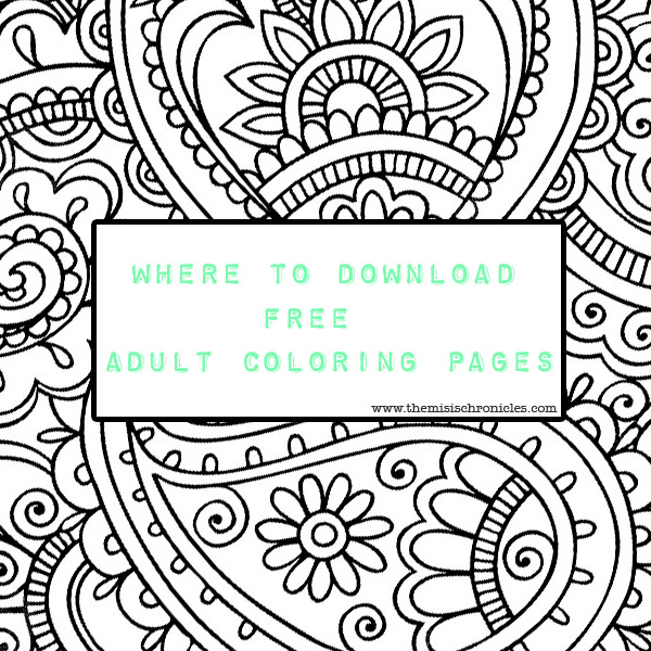 Where to download free adult coloring pages?