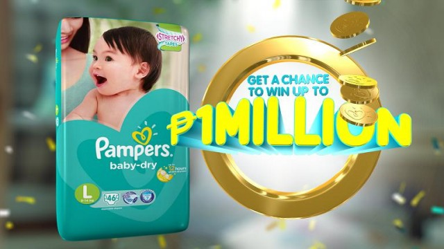 Win your baby's First Million when you buy new Pampers Baby Dry