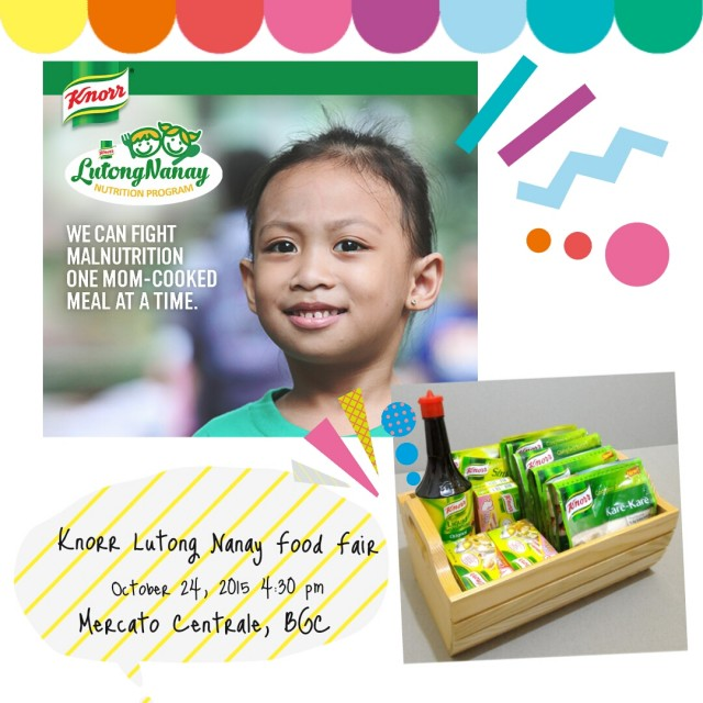 You are invited to the first ever Knorr #LutongNanay Nutrition Program Food Fair