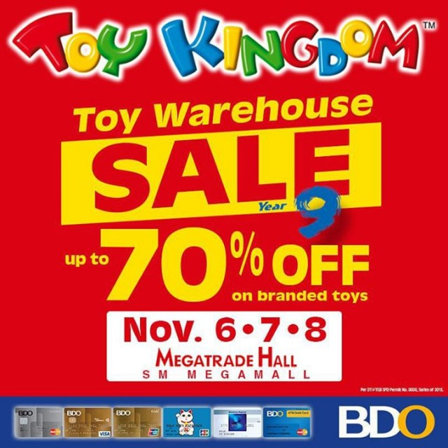 Toy Kingdom Toy Warehouse Sale on November 6 to 8, 2015