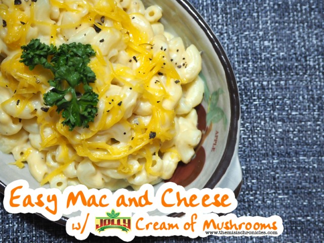 In the Kitchen: Easy Mac and Cheese with Jolly Cream of Mushrooms
