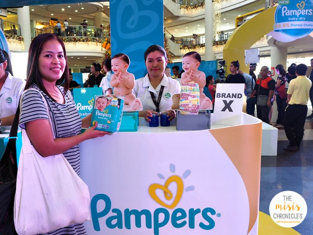 Pampers Baby Dry proven to keep baby's skin 99.9% dry