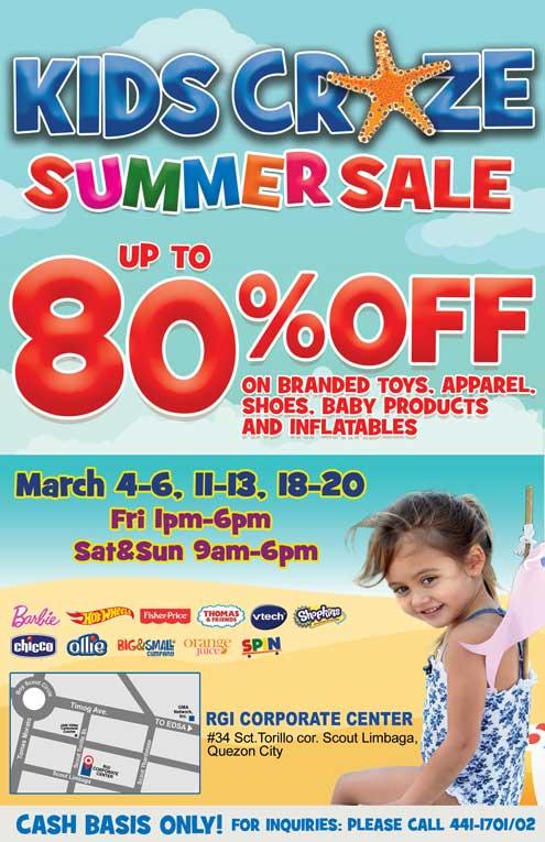 kids craze summer sale 2016