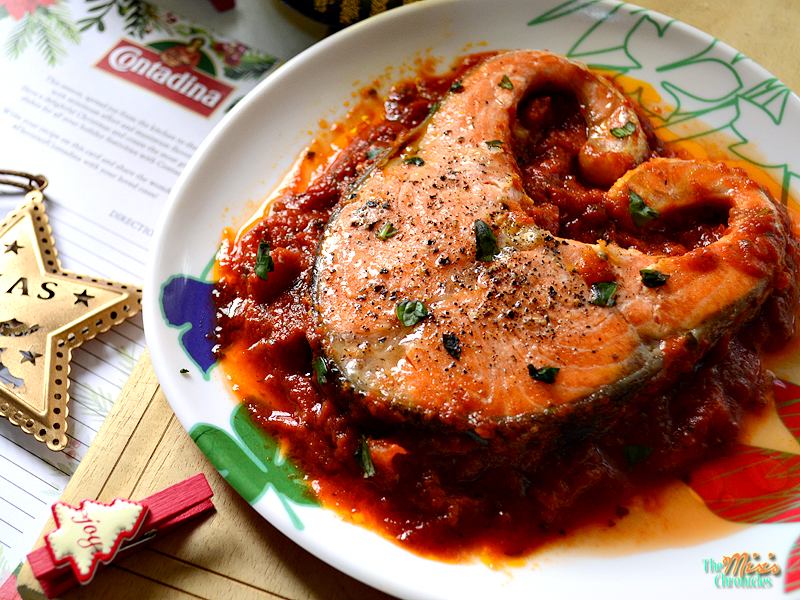 salmon in Contadina Napoletana Sauce recipe