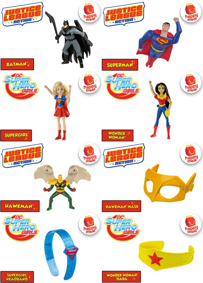 MCDONALDS HAPPY MEAL JUSTICE LEAGUE TOYS