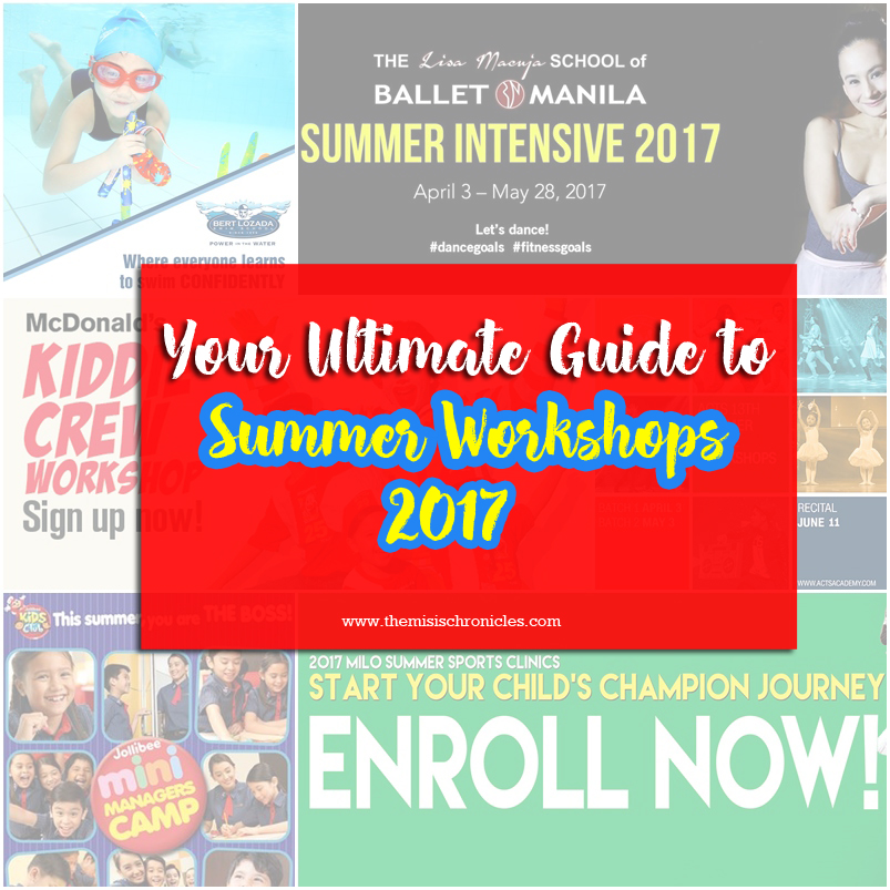 2017 summer workshops