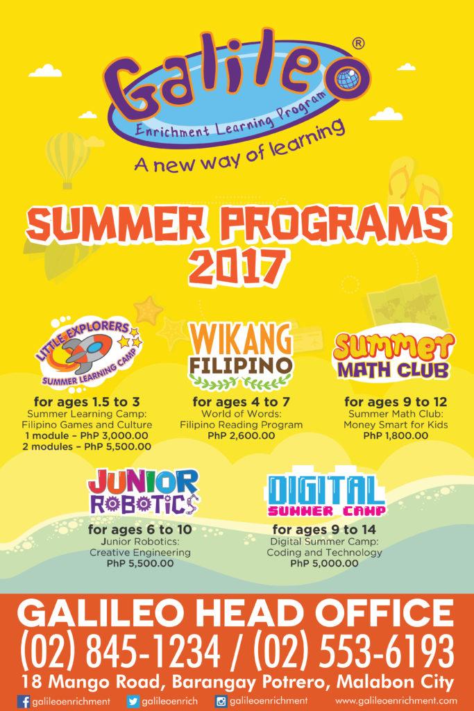 Galileo Summer pograms 2017