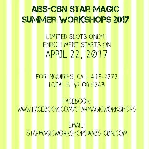 abs cbn star magic summer workshops 2017